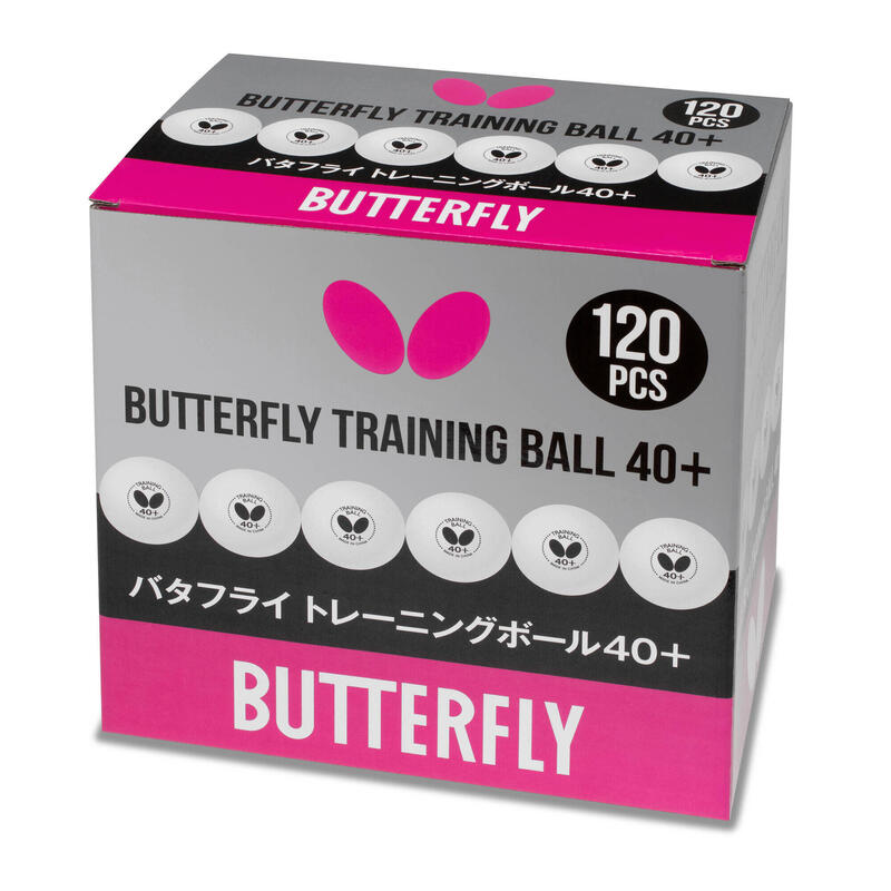 Butterfly Training Ball 40+ (Box of 120)