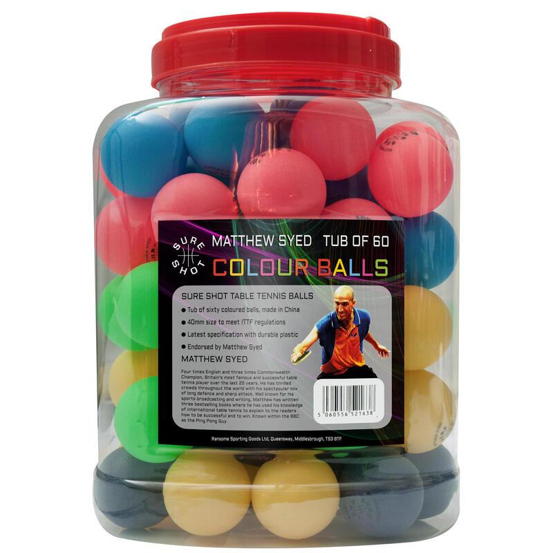 Sure Shot Matthew Syed Barrel of 60 Coloured Balls