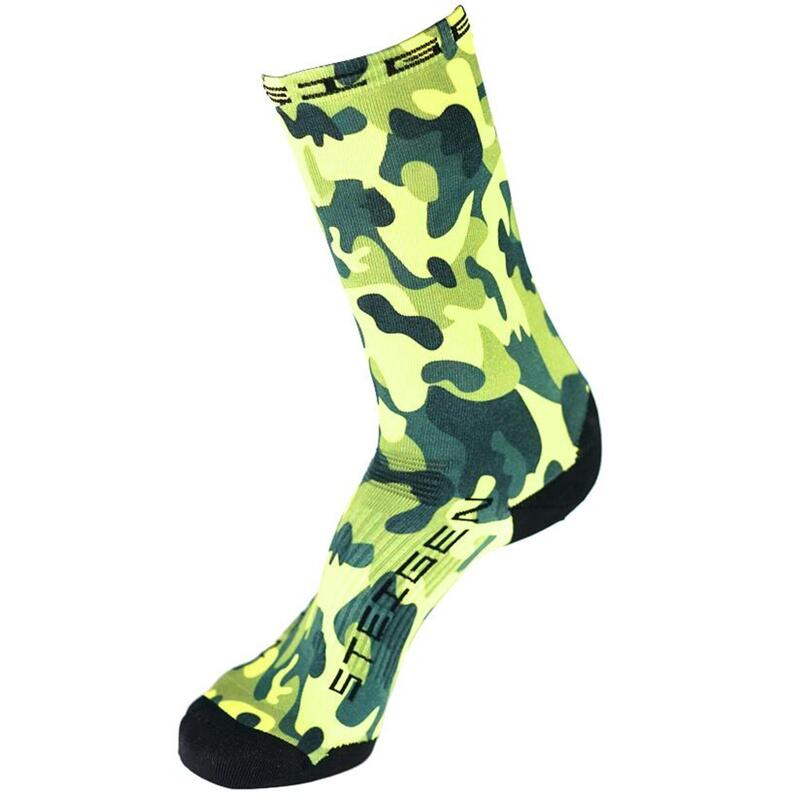Steigen 3/4長度 迷彩綠色 運動襪