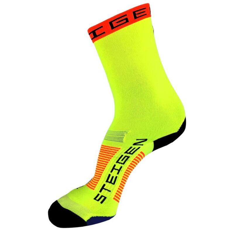 Steigen 3/4長度 螢光黃色 運動襪