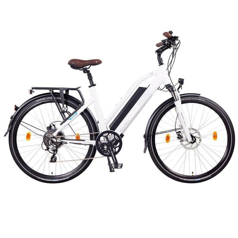Vélo Electrique Trekking NCM Milano Plus Blanc - 28'', 250W, Batterie 48V 16Ah