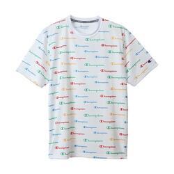 Men's Script Logo Allover Vapor Dry Fast T-Shirt C3-RS304