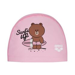 ARENA S21 K LINE FRIENDS 2WAY SILICONE CAP PINK