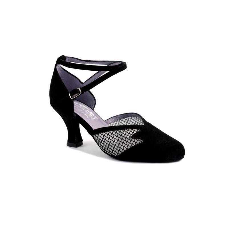 CHOLET - zapato de salón con inserciones de malla