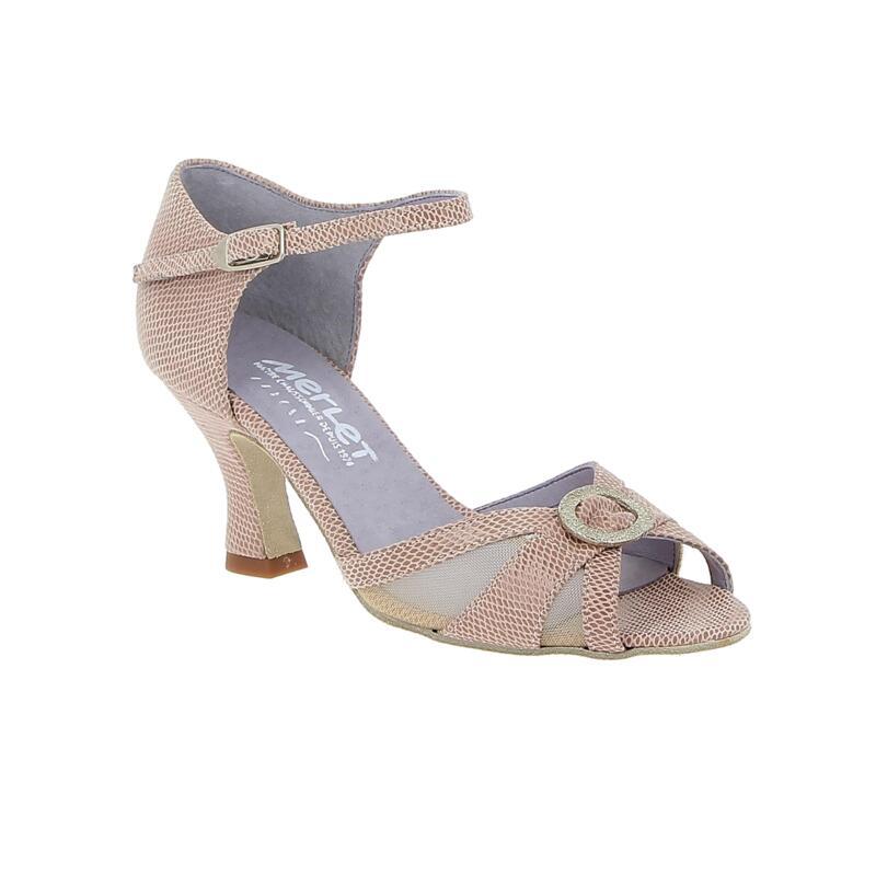 JOLENE - chaussure de danse de salon à bout ouvert avec boucle