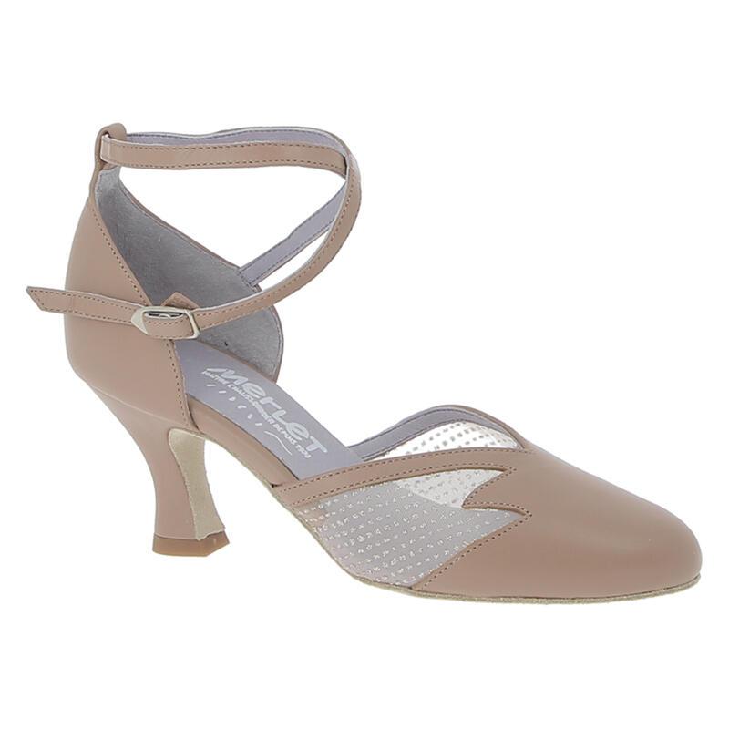CHOLET - chaussure de danse de salon avec inserts en résille