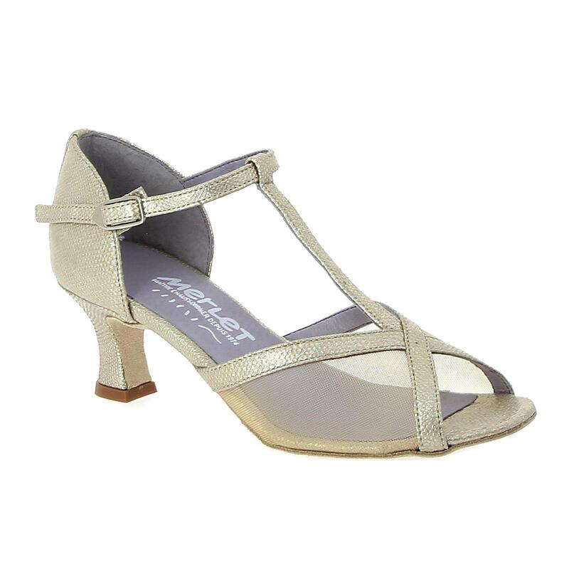 KATY - chaussure de danse de salon avec inserts en résille