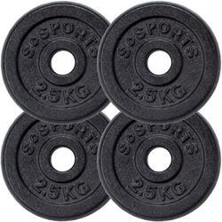 Lot de disques en fonte  - 4 x 2,5 KG (10 KG) ø30 / 31