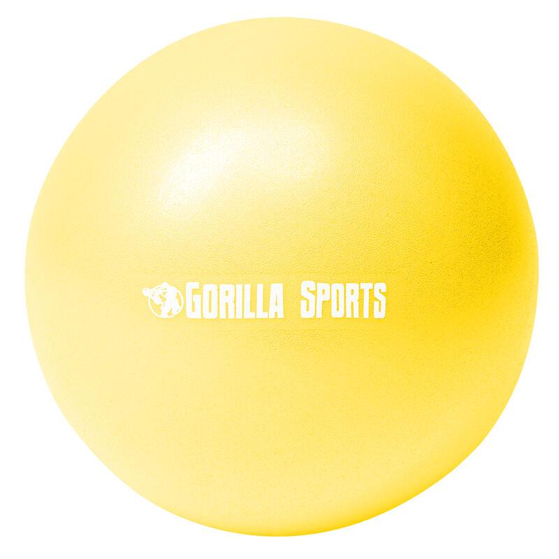 Mini-ballon d'exercice jaune, ballon léger de Pilates Soft Ball - Diamètre : 18