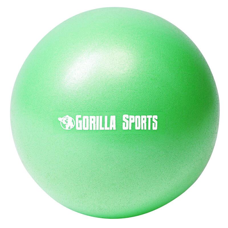 Mini-ballon d'exercice vert, ballon léger de Pilates Soft Ball - Diamètre : 18 c