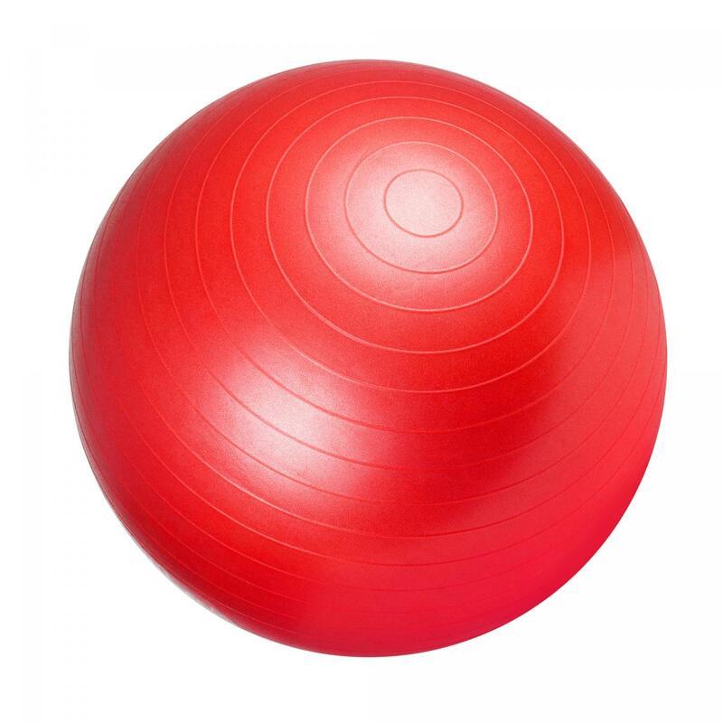 Ballon de gym rouge - Swiss ball | Diamètre : 65cm
