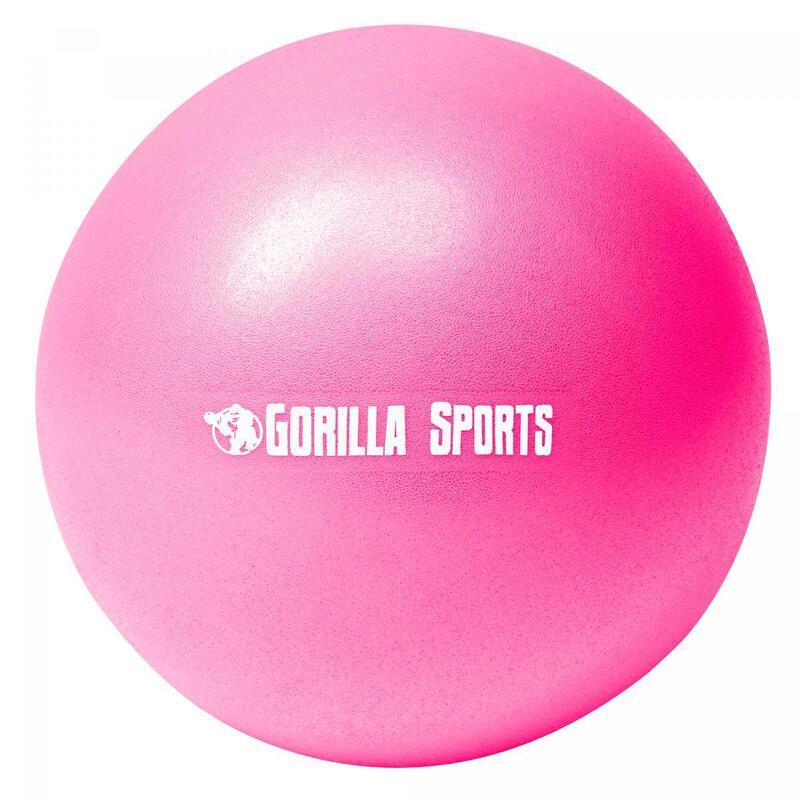 Mini-ballon d'exercice rose, ballon léger de Pilates Soft Ball - Diamètre : 23 c