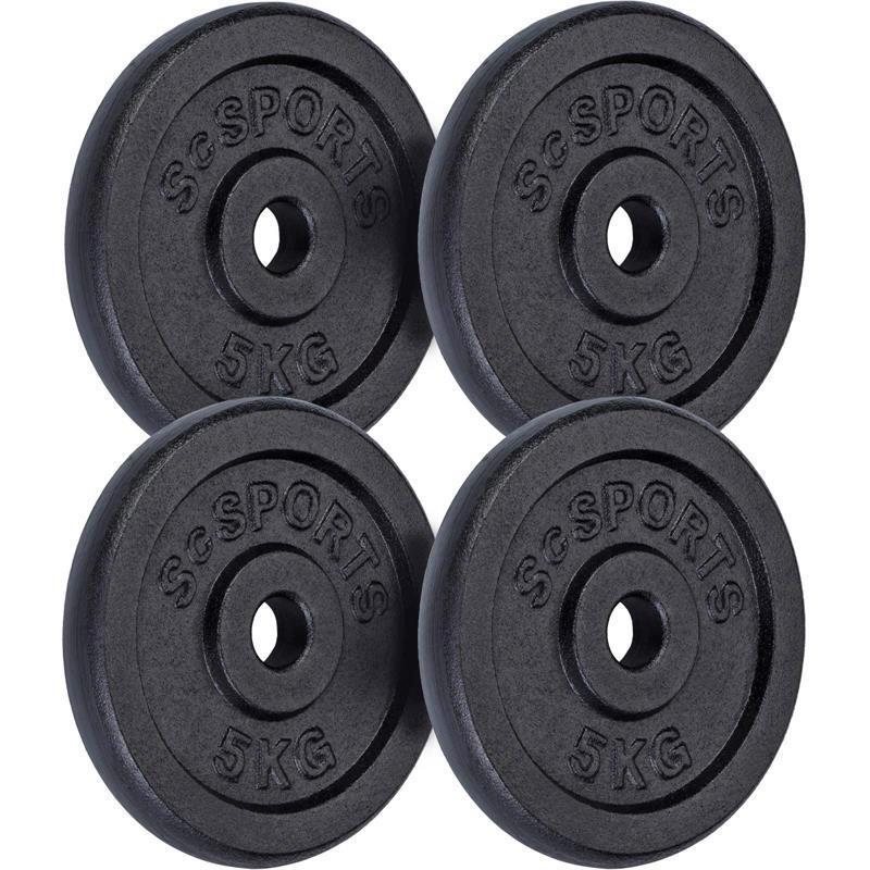 Lot de disques en fonte  - 4 x 5 KG (20 KG) ø30 / 31