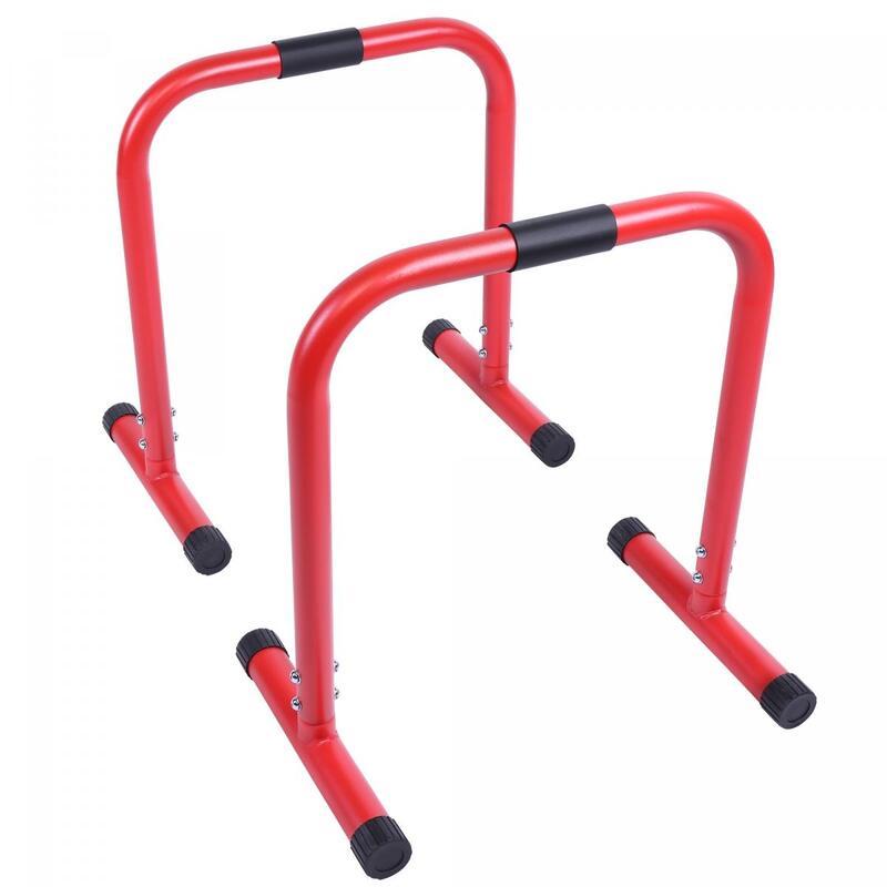 Barres parallèles - barres à dips | Hauteur: 73 cm | Coloris : Rouge