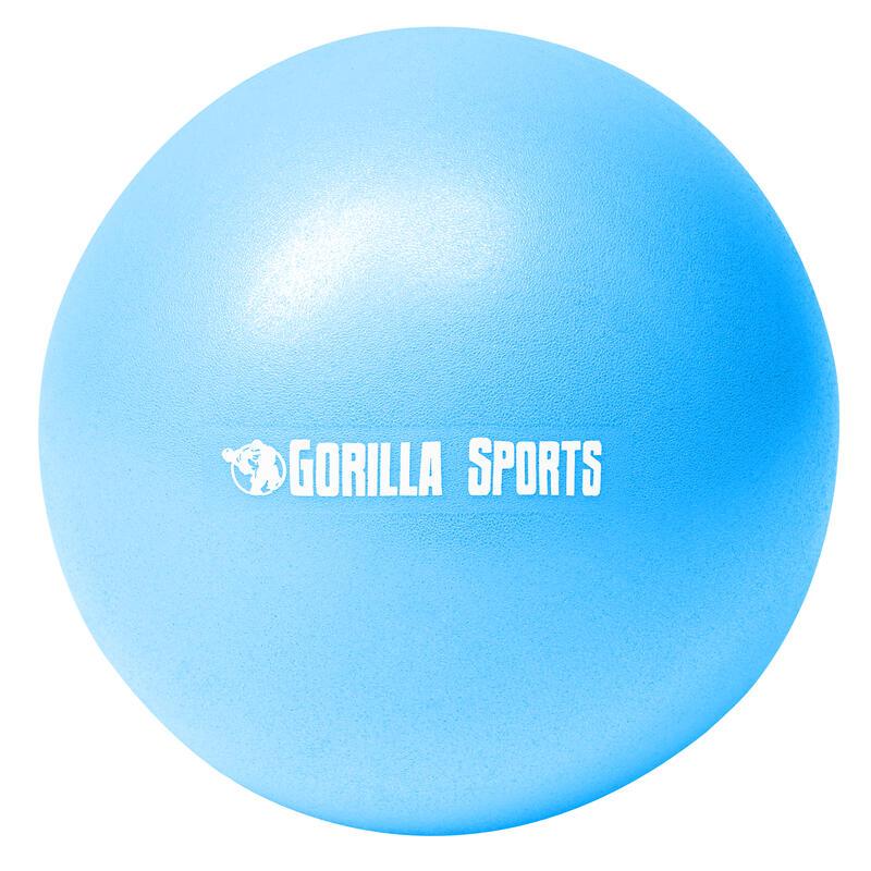 Mini-ballon d'exercice bleu, ballon léger de Pilates Soft Ball - Diamètre : 23 c