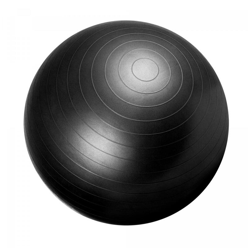 Ballon de gym noir - Swiss ball | Diamètre : 65cm