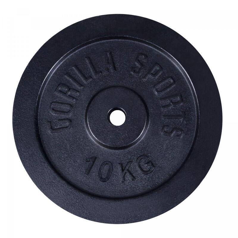 Disques de poids en fonte noire - De 0,5 KG à 30 KG
