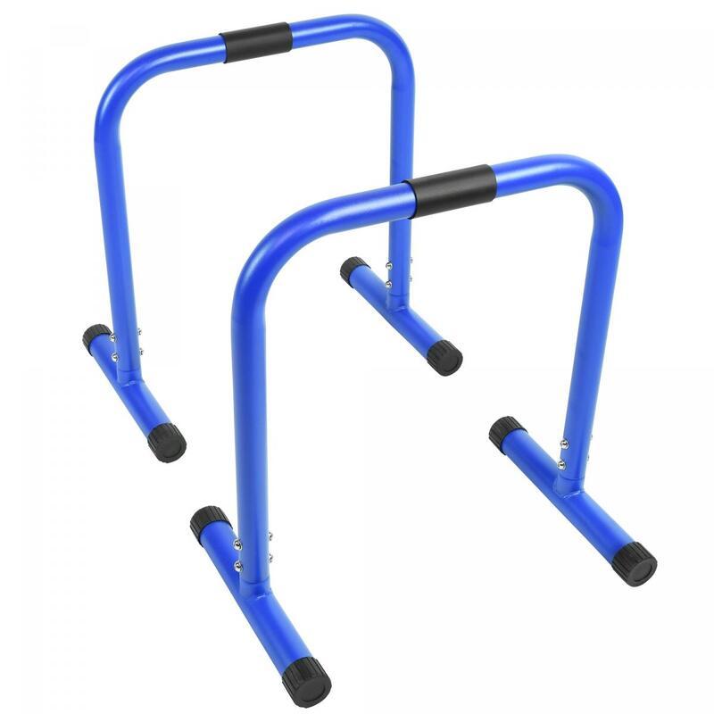 Barres parallèles - barres à dips | Hauteur: 73 cm | Coloris : Bleu