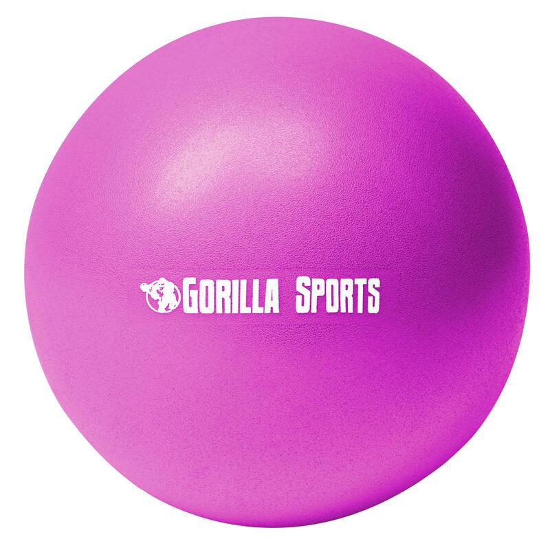 Mini-ballon d'exercice violet, ballon léger de Pilates Soft Ball - Diamètre : 18