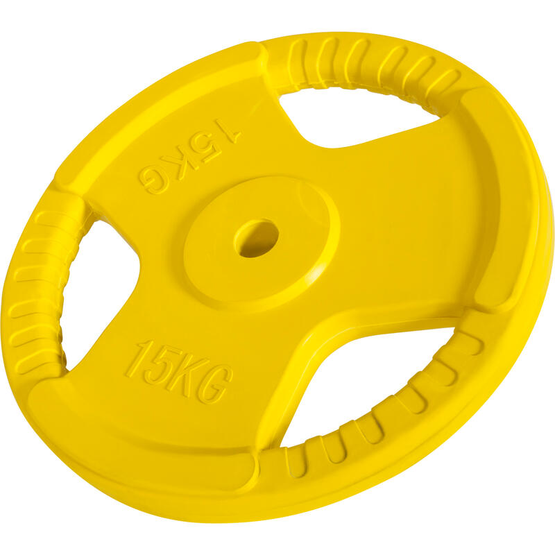 Disques en fonte avec poignées et revêtement caoutchouc- 31mm - De 1,25 KG à 25