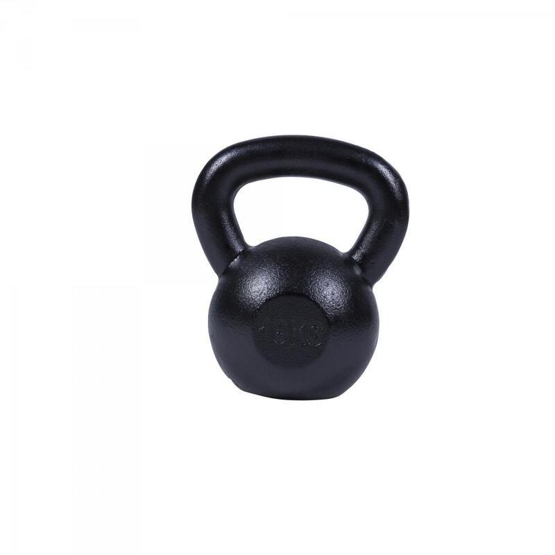 Poids Kettlebells de 2 KG à 32 KG + Lots de 2, 3 ou 8 Kettlebells - Gris - noir