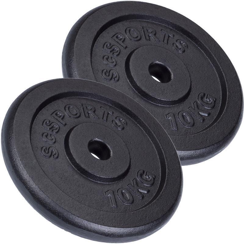 Lot de disques en fonte  - De 10 à 30 KG ø30 / 31