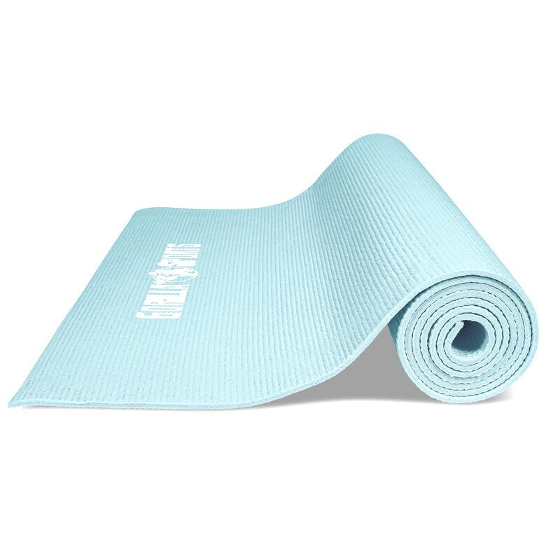Tapis de yoga PVC - 180x60x0,5cm | tapis de gymnastique avec sangle de voyage po
