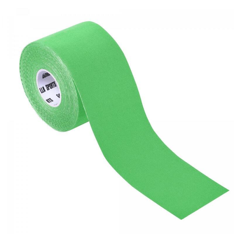 Bande de kinésiologie couleur verte claire - rouleau de 5 m -  Largeur : 5 cm