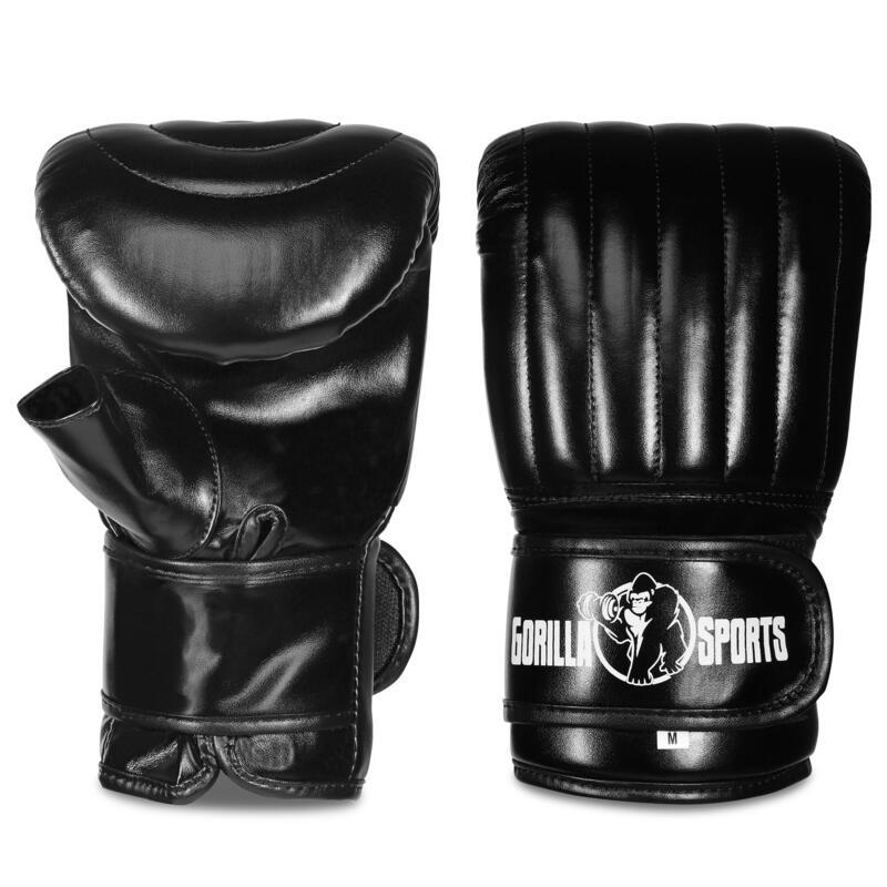 Gants de boxe fins noir haute qualité pour entrainement Tailles S, M, L