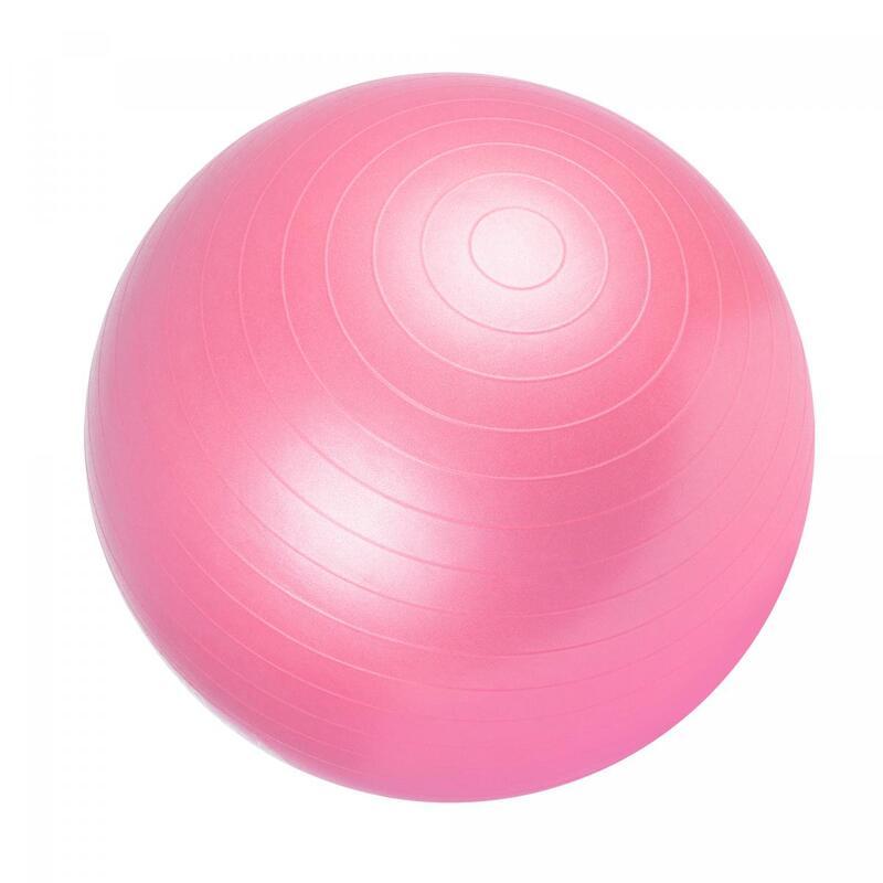 Ballon de gym rose - Swiss ball   Diamètre : 55cm