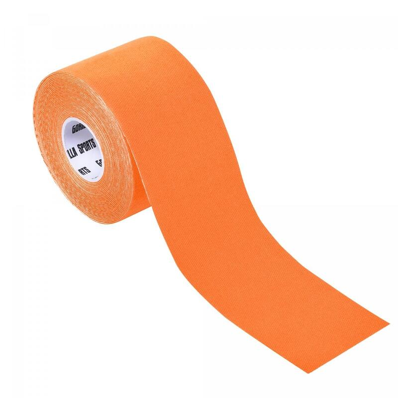 Bande de kinésiologie couleur orange - rouleau de 5 m -  Largeur : 5 cm