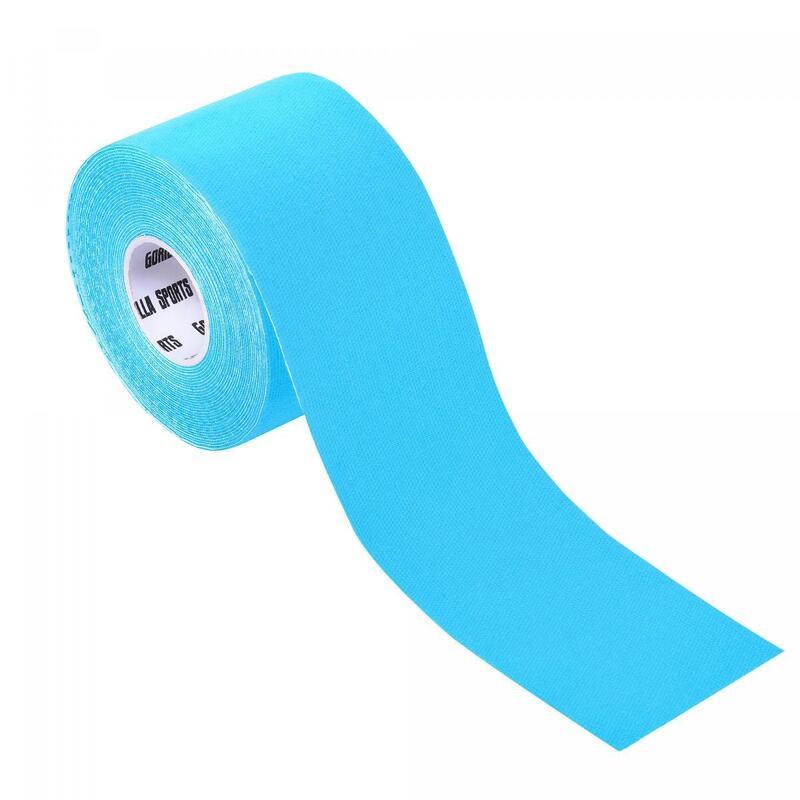 Bande de kinésiologie bleue claire - rouleau de 5 m -  Largeur : 5 cm