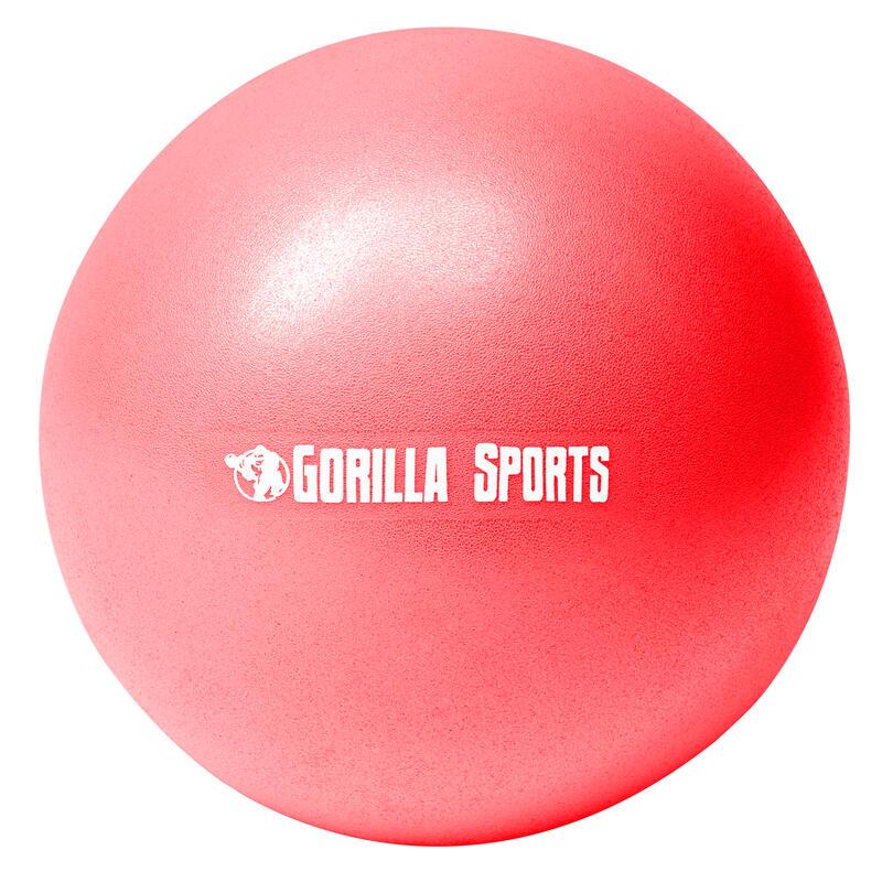 Mini-ballon d'exercice rouge, ballon léger de Pilates Soft Ball - Diamètre : 18
