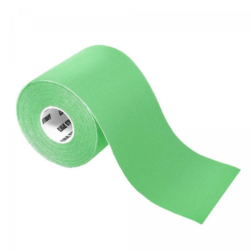 Bande de kinésiologie couleur verte claire - rouleau de 5 m -  Largeur : 7,5 cm