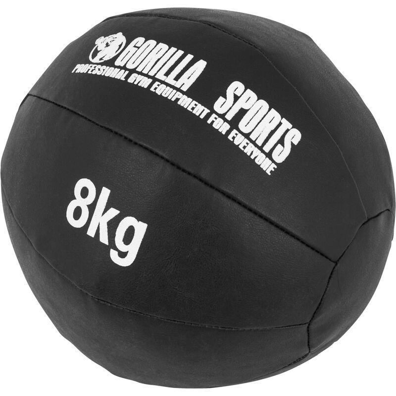 Médecine Ball Cuir Synthétique de 1kg à 10kg