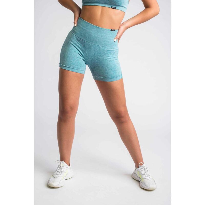 Pulse Seamless Short Fitness - Femme - Bleu