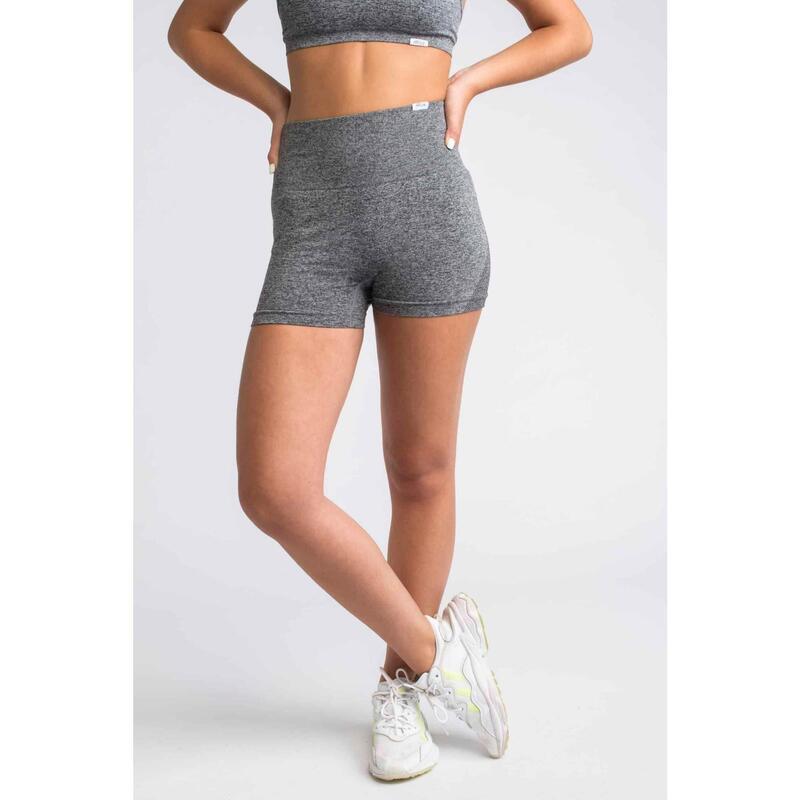 Pulse Seamless Short Fitness - Femme - Gris