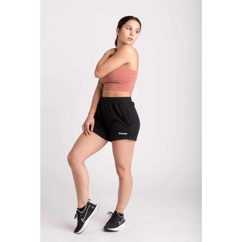 Fitted Sweat Short - Femme - French Terry Noir