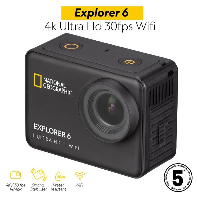 Cámara Deportiva Explorer 6 - 4k Ultra Hd 30fps Wifi National Geographic