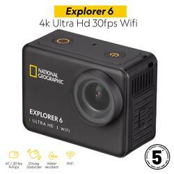 Fotocamera sportiva Explorer 6 - 4k Ultra Hd 30fps Wi-Fi National Geographic