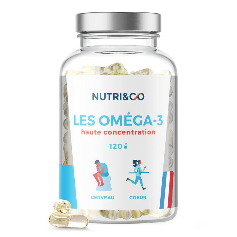 Oméga 3 - Huile de Poissons Sauvages Pure et Concentrée - 120 gélules