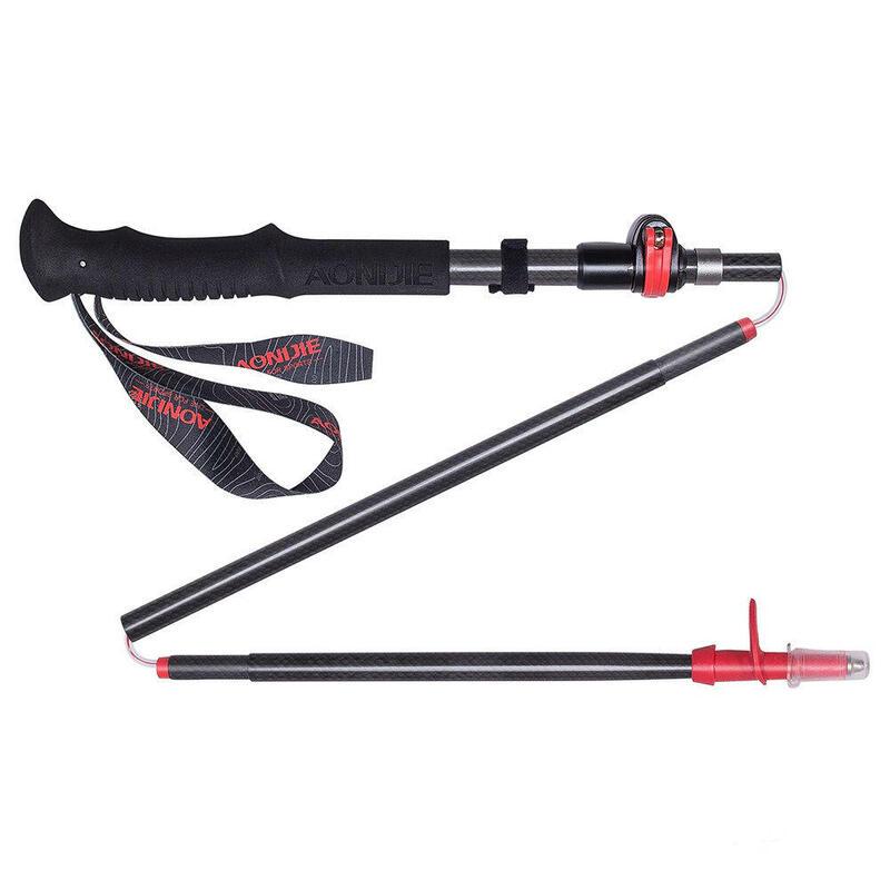 E4087 110-130(cm) 可調節折疊式全碳纖行山杖 (單支)