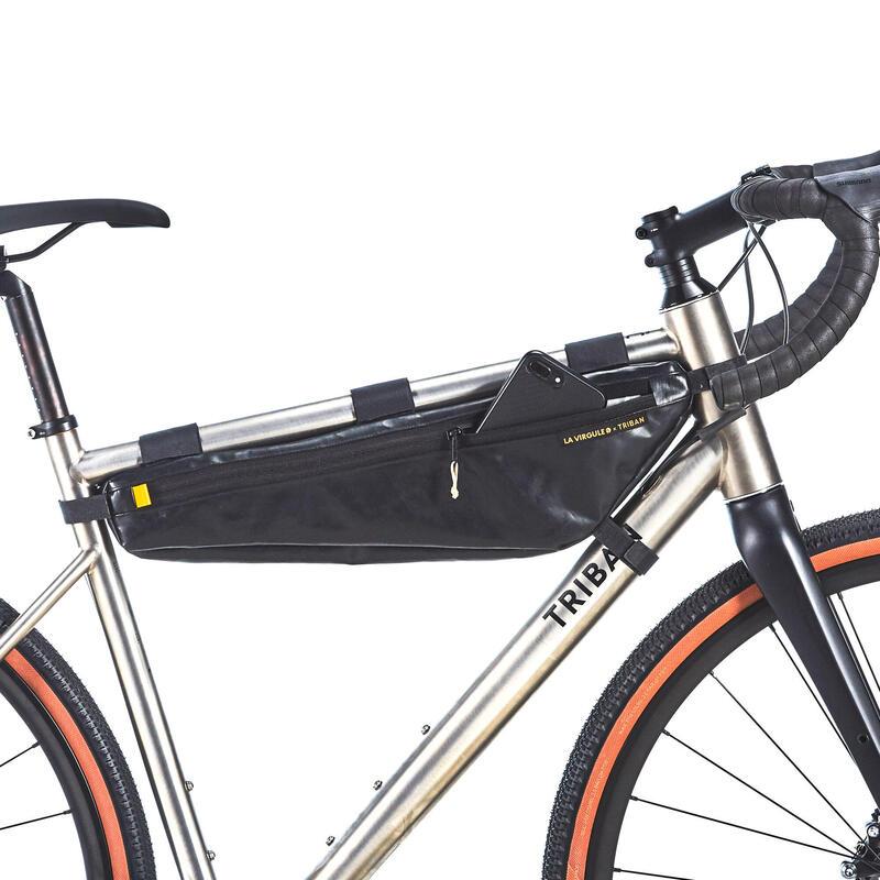 Sacoche de cadre 5 tailles - La Virgule X Triban upcyclée et made in France ♻️