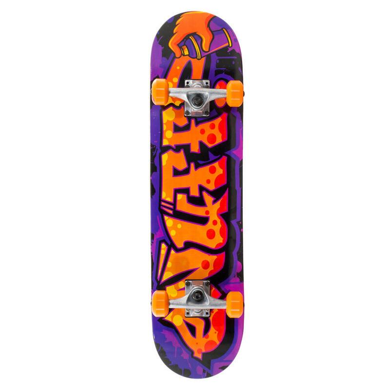 "Skate Enuff Graffiti II 7.25""x29.5"" Violet/Orange"