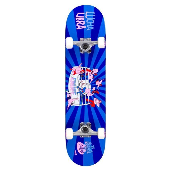 "Skate Enuff Lucha 7.25""x29.5"" Bleu/Bleu"