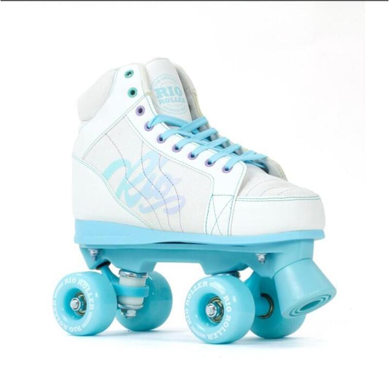 Roller Quad Lumina Blanc/Bleu