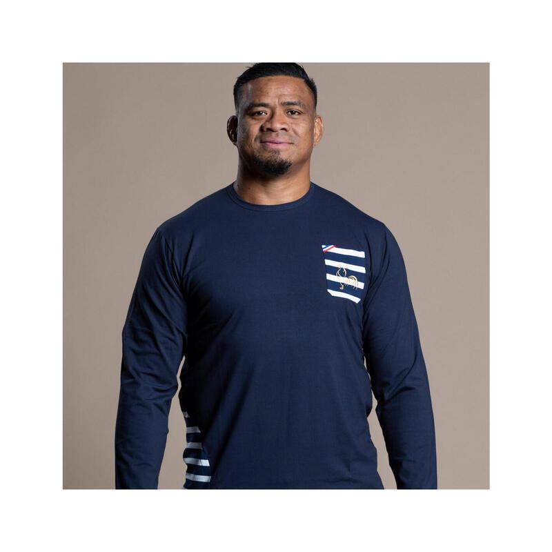 Tee-shirt manches longues de rugby homme Petit Côté Marin
