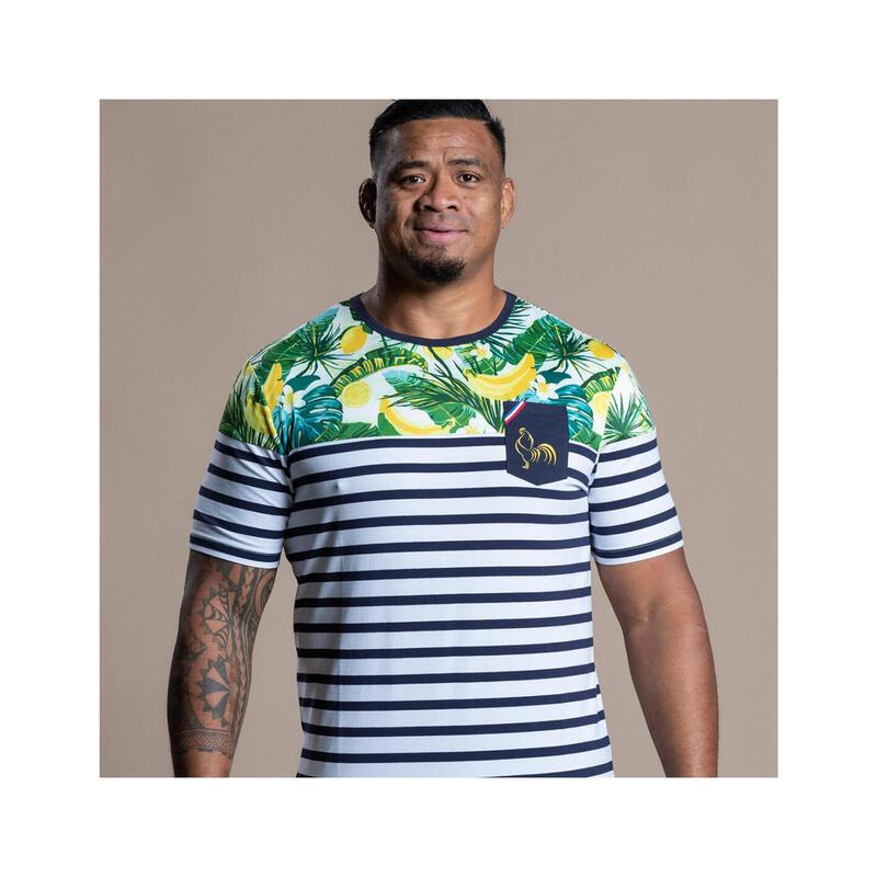 T-shirt manches courtes de rugby homme Marinière Bananas