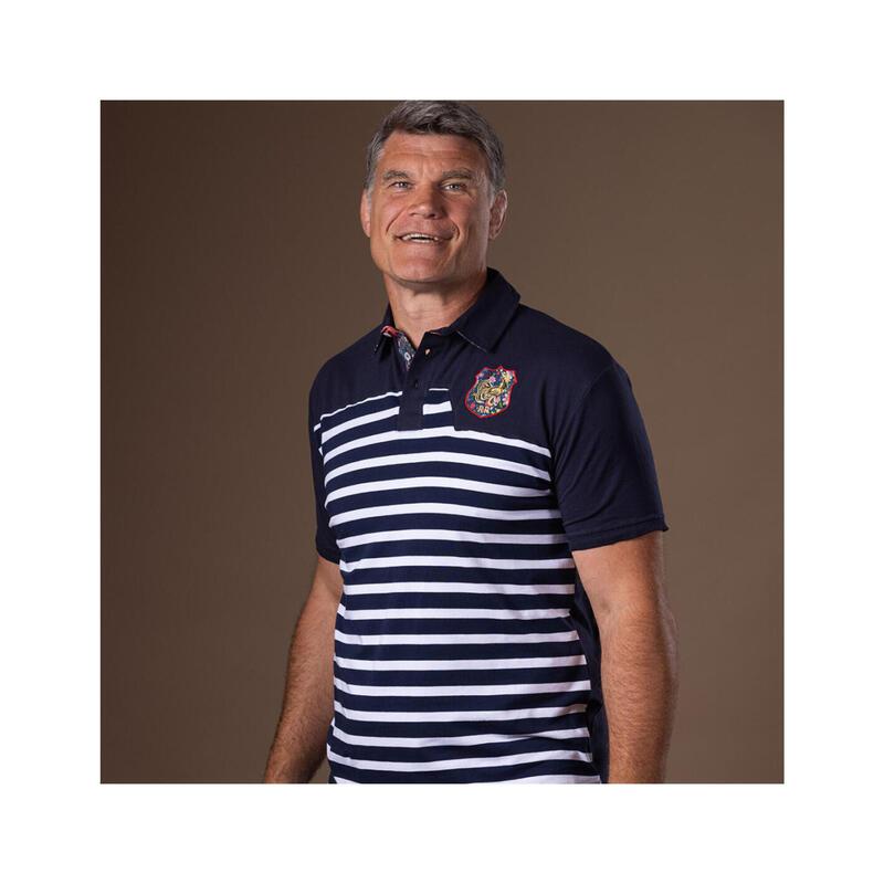 Polo manches courtes de rugby homme Marinière Pumas