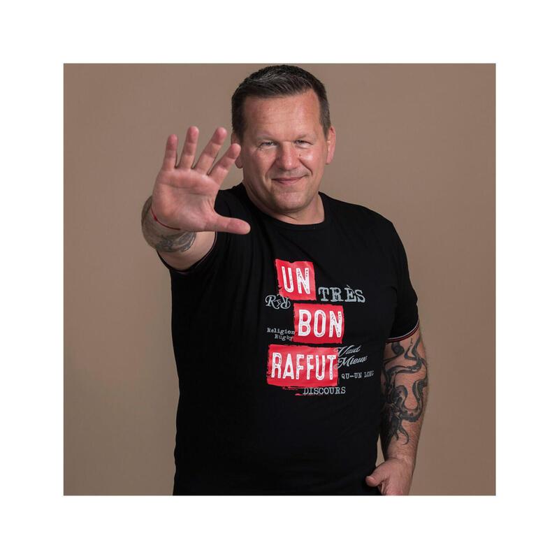T-shirt manches courtes de rugby homme Un Bon Raffût by Christian Califano